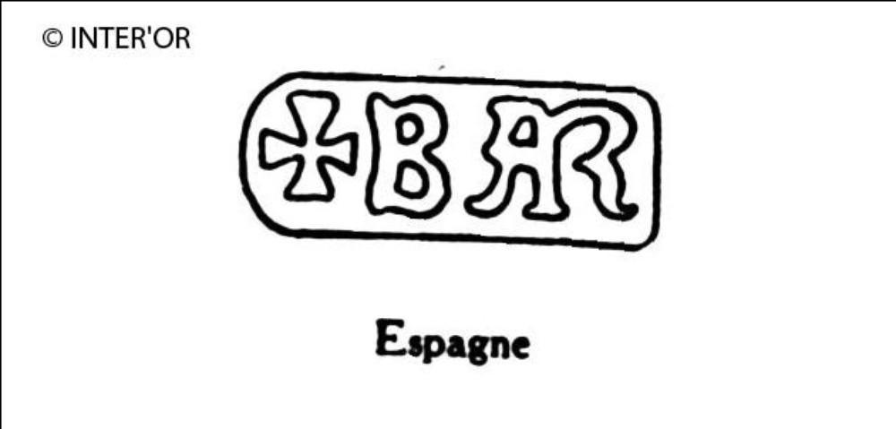 Lettres b a r et croix