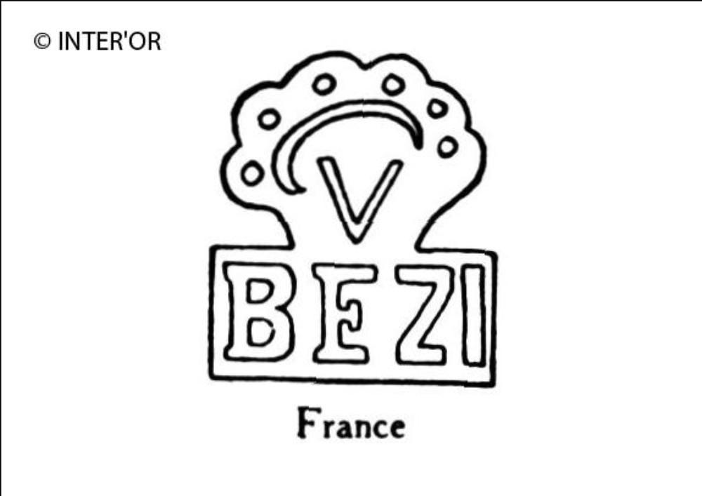 Lettres b e z i sous un v couronne