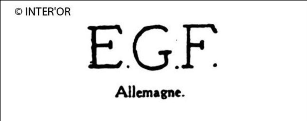 Lettres e. G. F