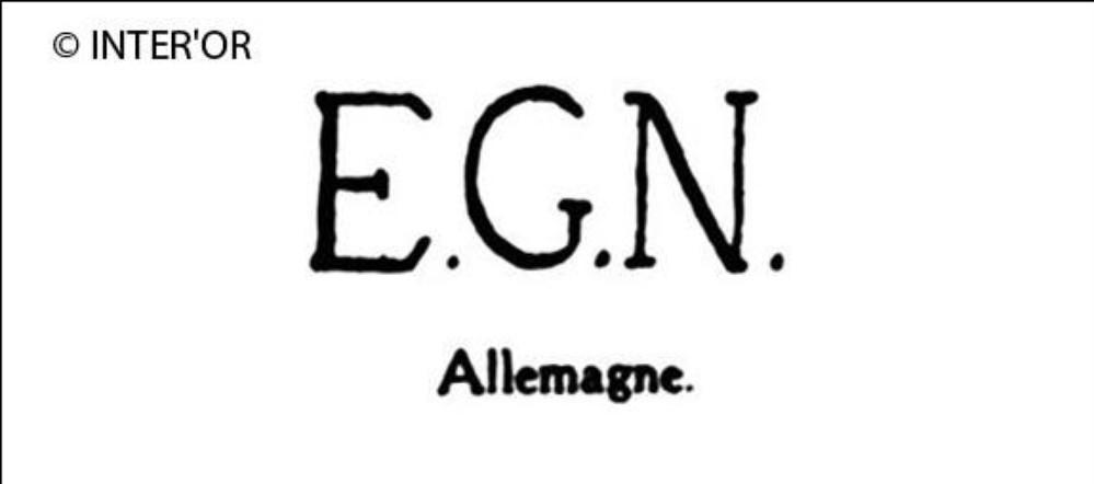 Lettres e. G. N
