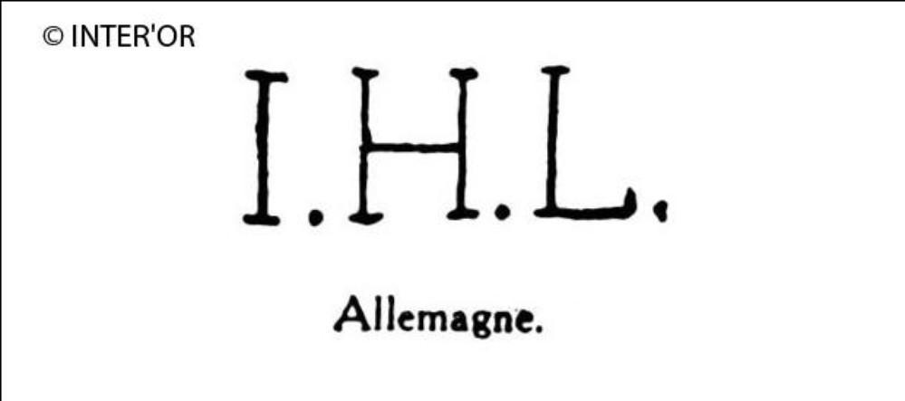 Lettres i. H. L