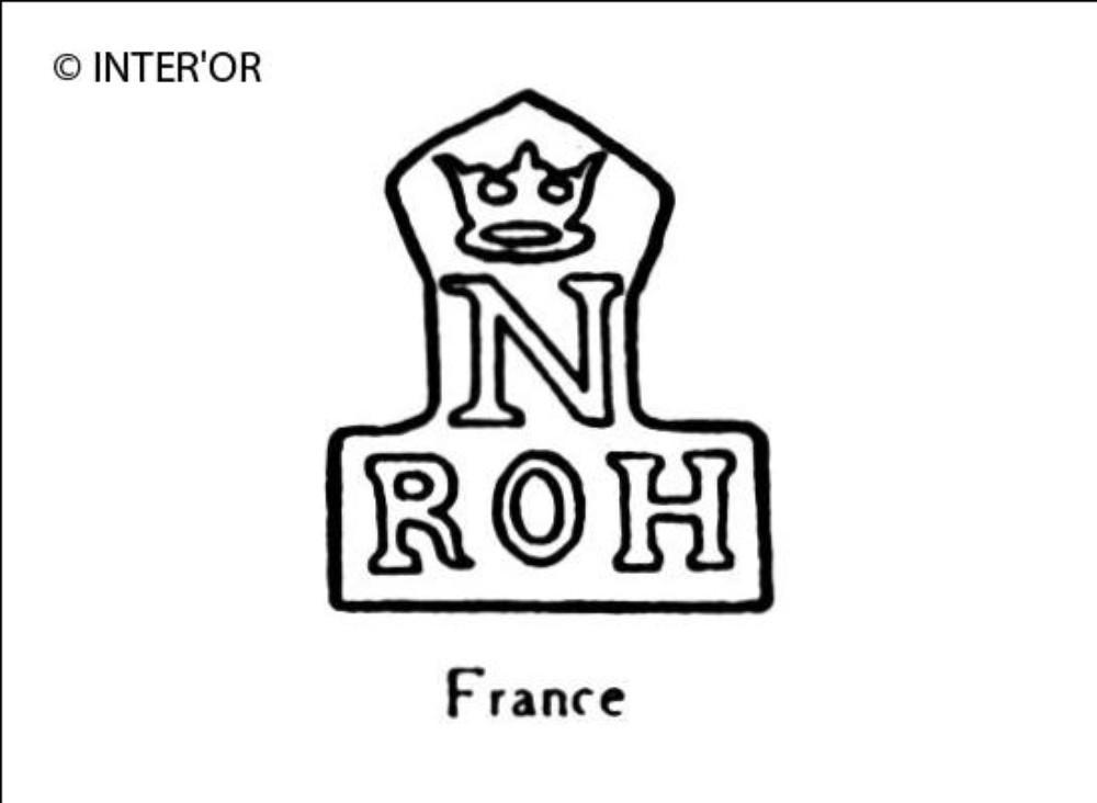 Lettres r o h sous n couronne
