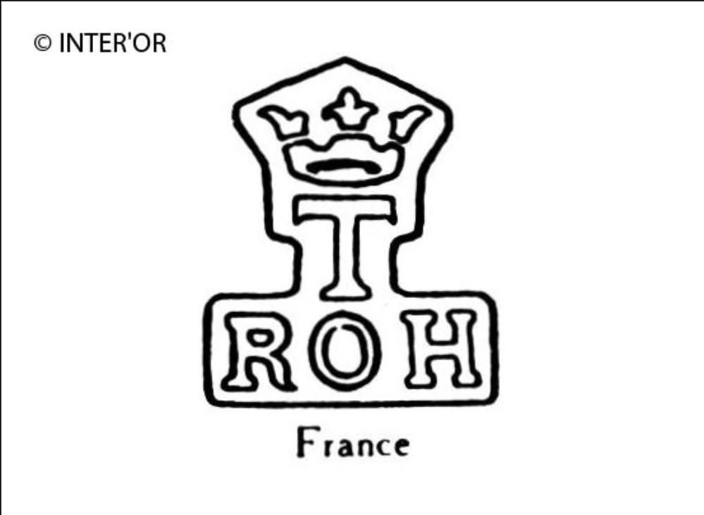 Lettres r o h sous t couronne