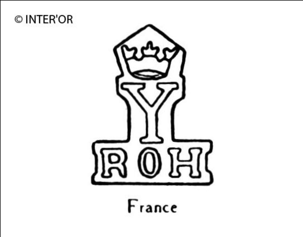 Lettres r o h sous y couronne