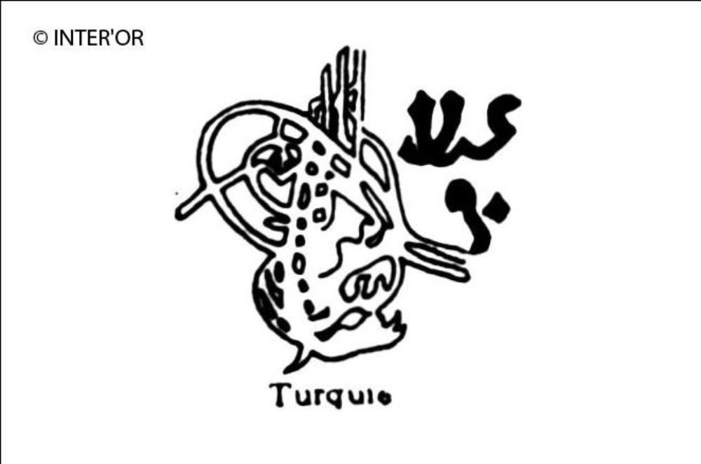 Lettres turques et hieroglyphes