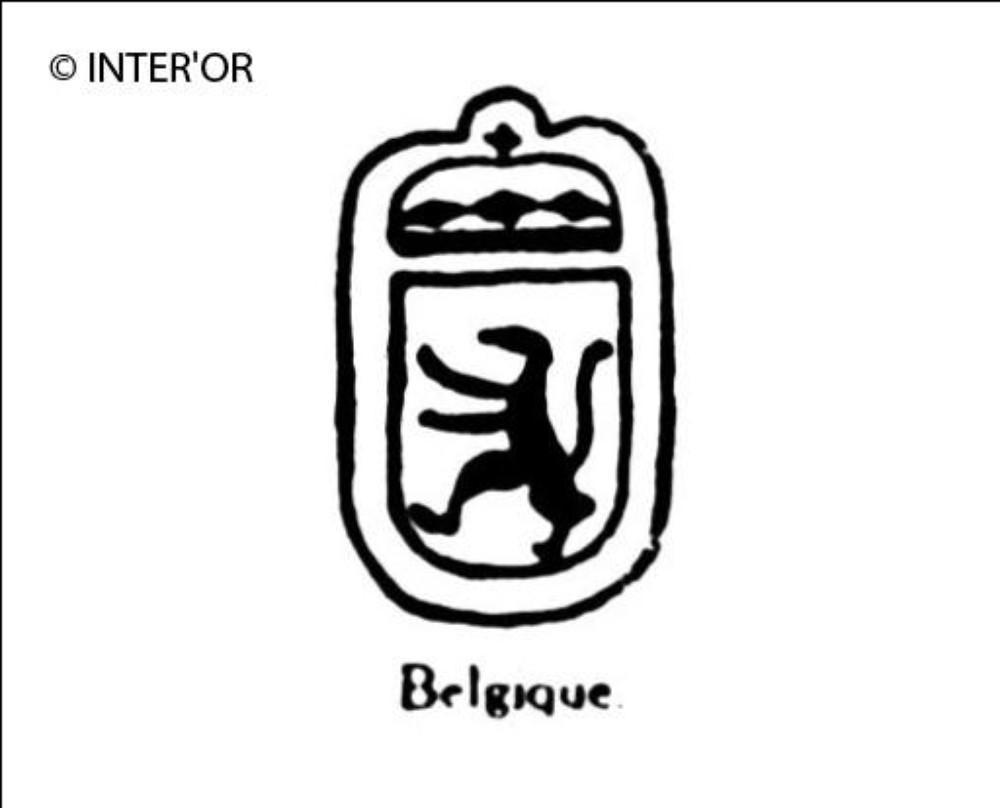 Lion heraldique couronne