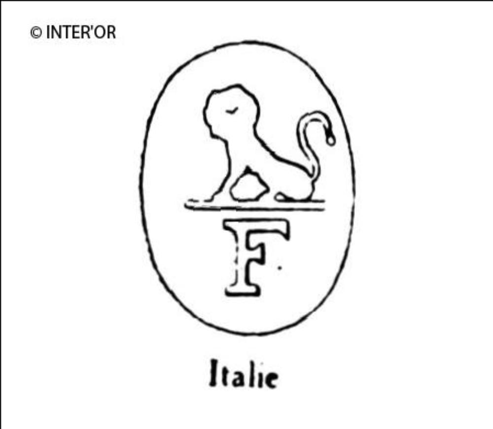 Lion sur lettre f