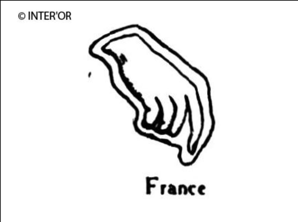 Main droite a demi-fermee