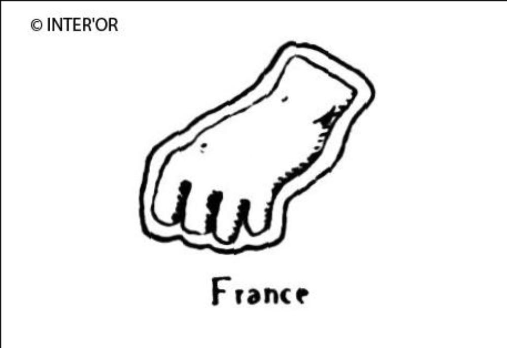 Main gauche fermee