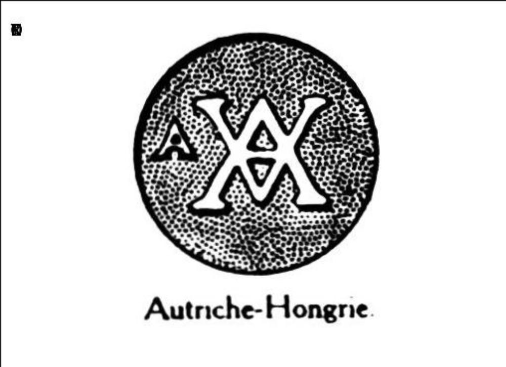 Monogramme av et a dans une circonference
