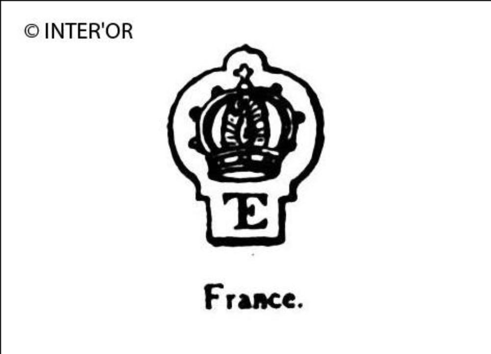 Monogramme e. T. Et couronne