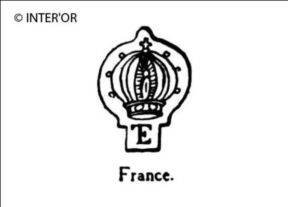 Monogramme e.T. Et couronne