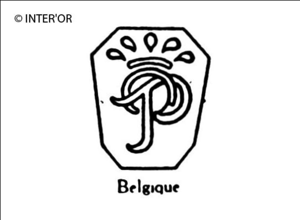 Monogramme p o couronne