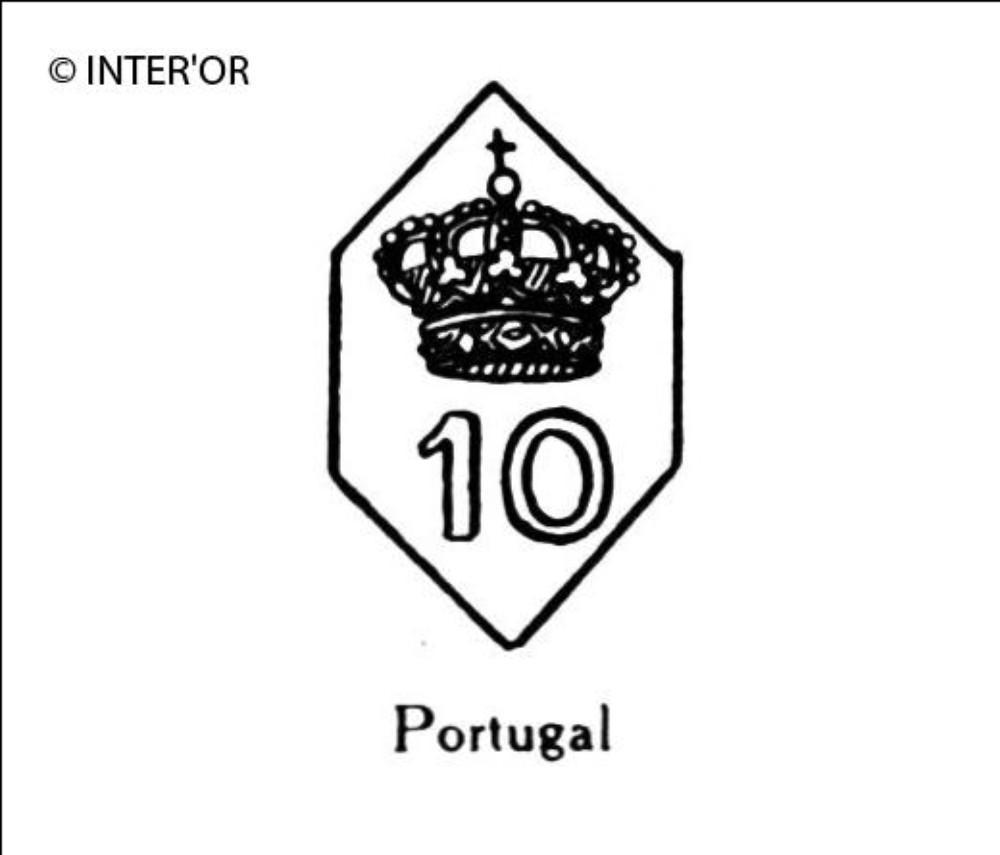 Nombre 10 couronne dans un hexagone