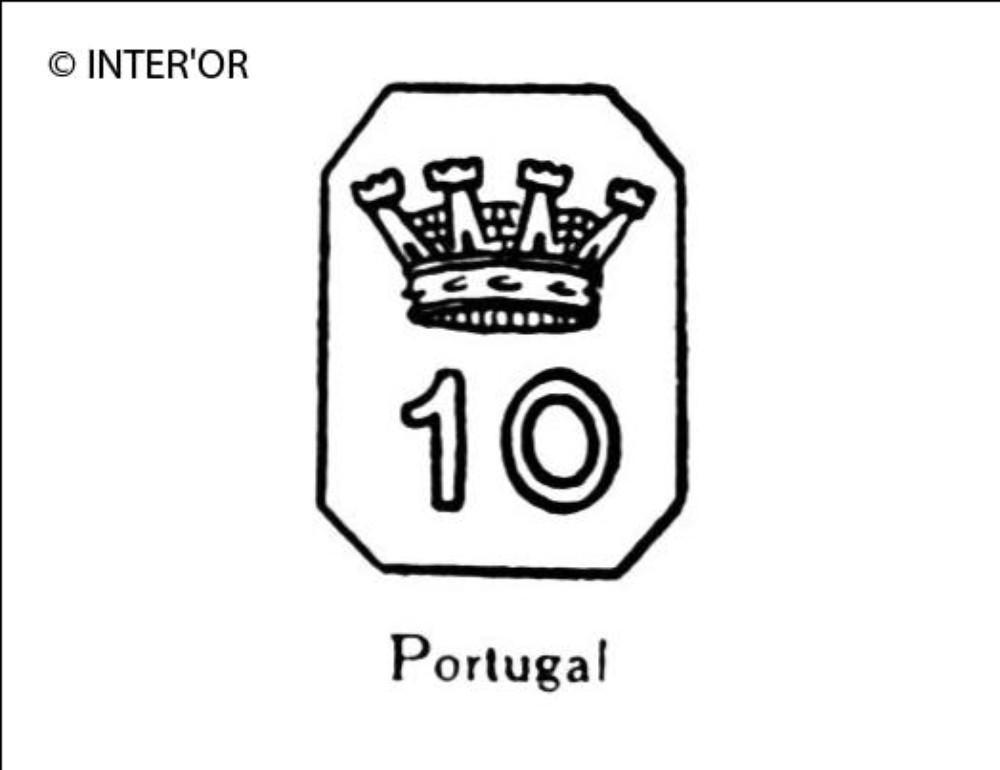 Nombre 10 couronne dans un octogone