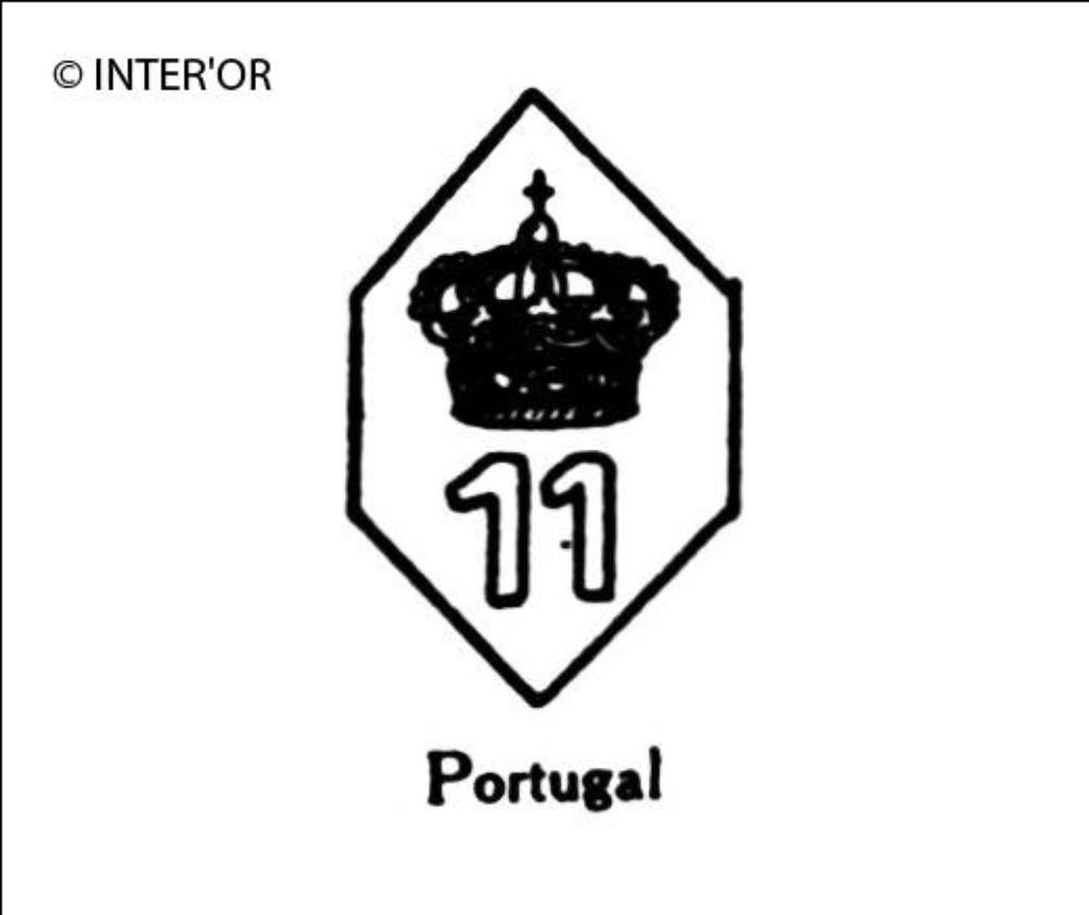 Nombre 11 couronne dans un hexagone