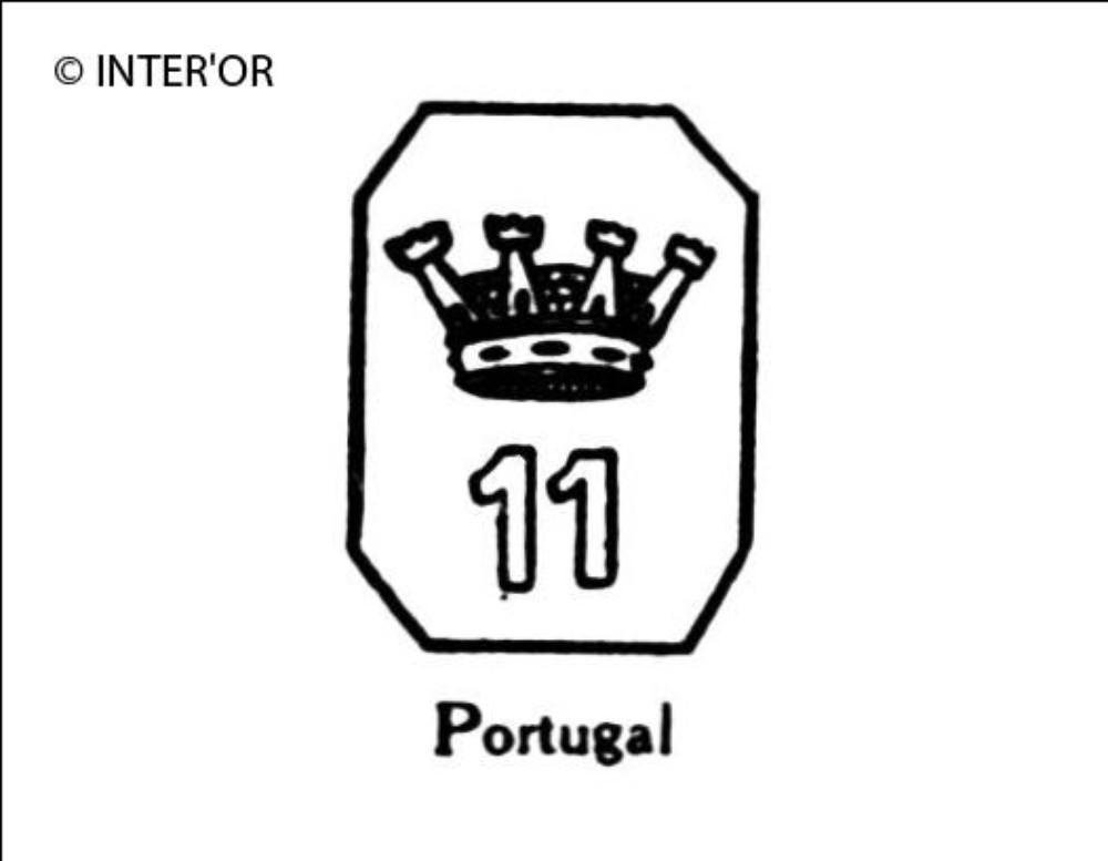 Nombre 11 couronne dans un octogone