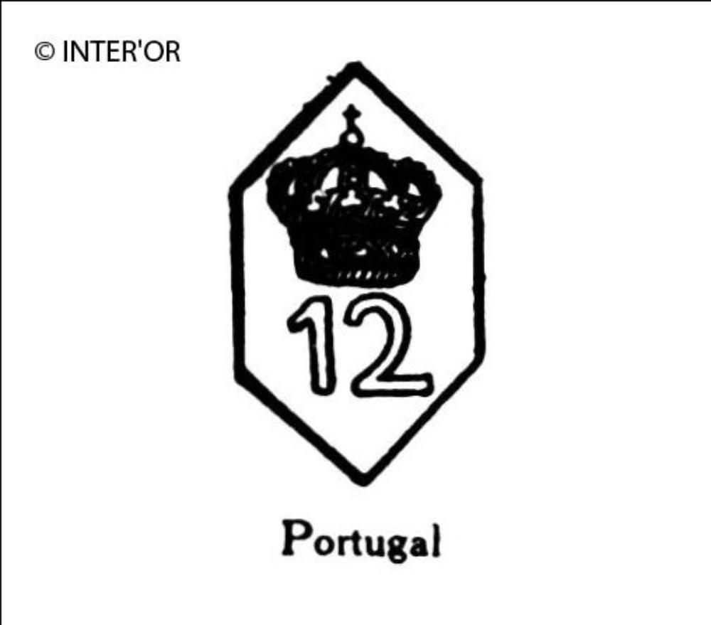 Nombre 12 couronne dans un hexagone