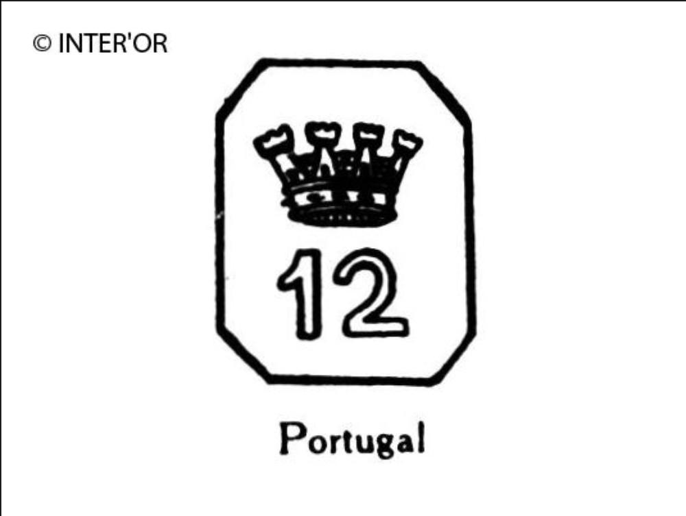 Nombre 12 couronne dans un octogone