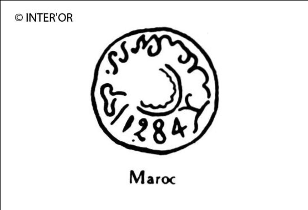 Nombre 1284 entoure d'arabesques
