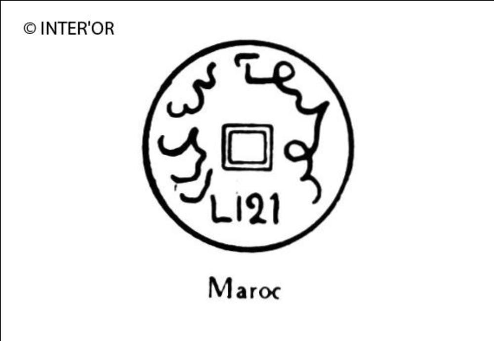Nombre 1312 entoure d'arabesques