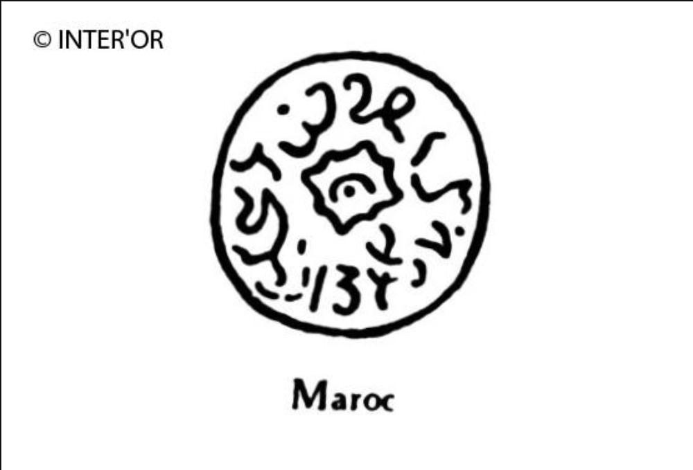 Nombre 1334 entoure d'arabesques