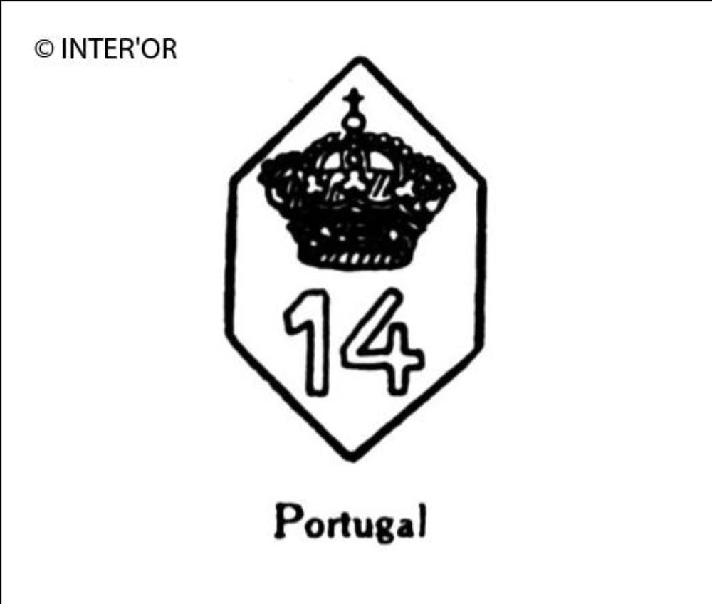 Nombre 14 couronne dans un hexagone