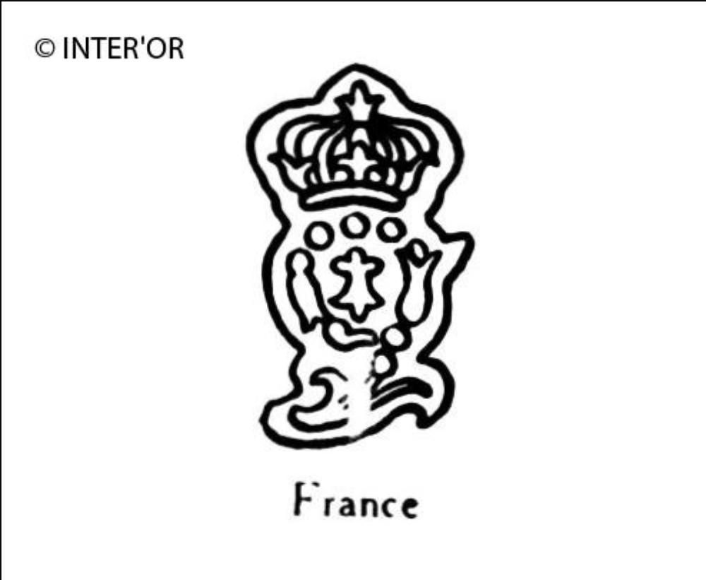Numero 9 fleuronne et couronne
