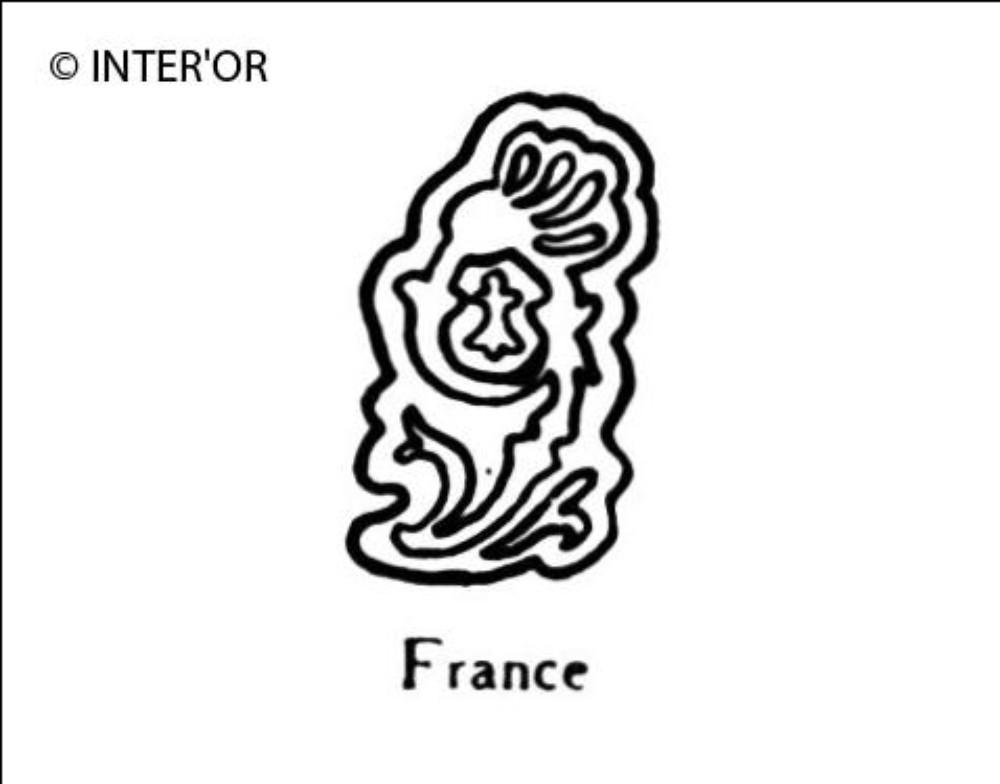 Numero 9 fleuronne hermine au milieu