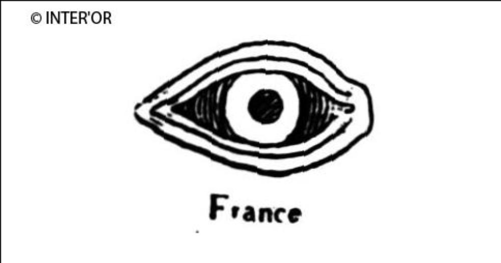 Œil humain vu de face