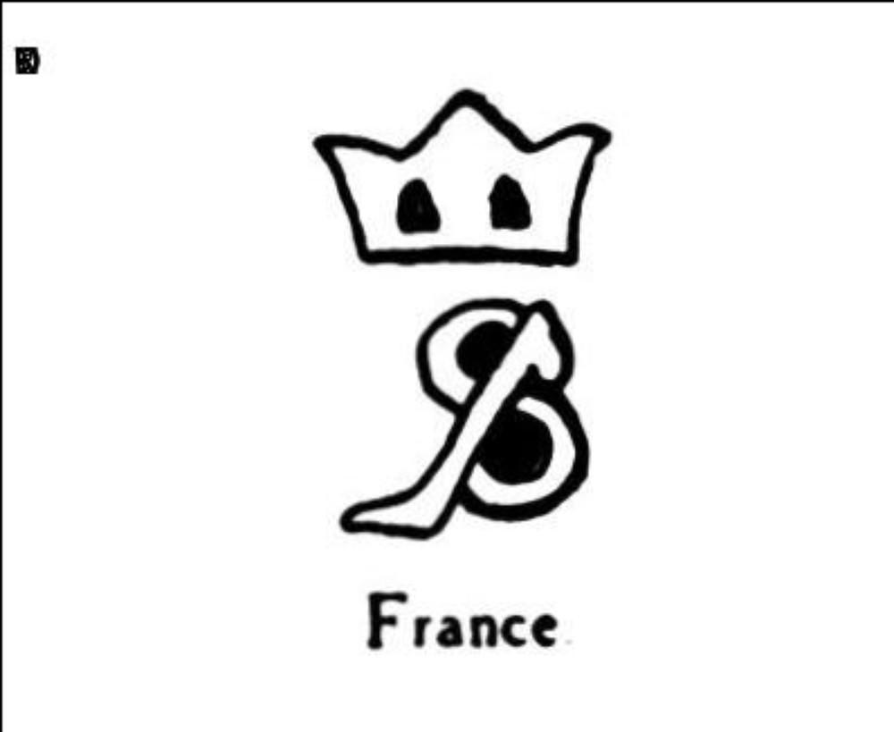 Petite lettre b couronnee