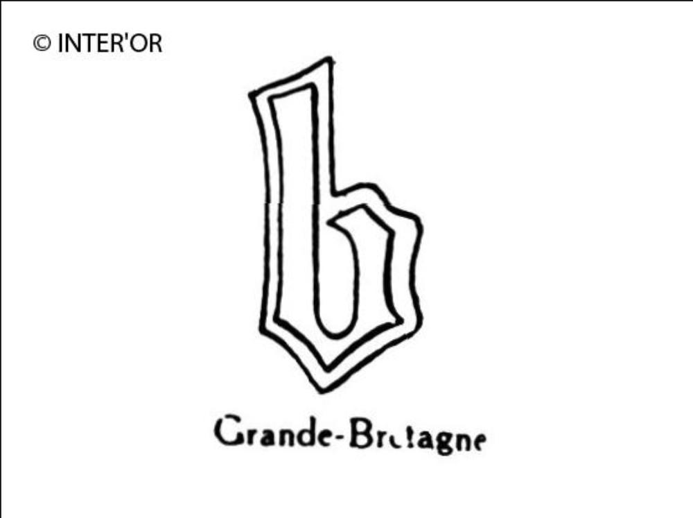 Petite lettre gothique b