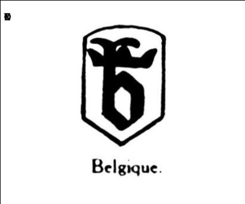 Petite lettre gothique b traversee par une couronne