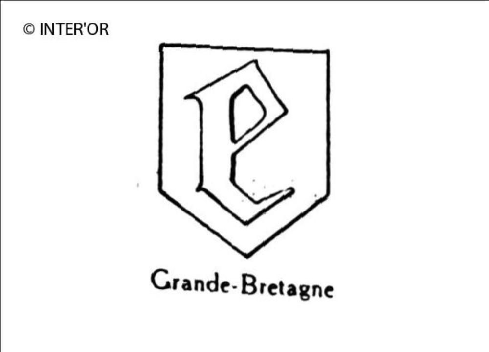 Petite lettre gothique e