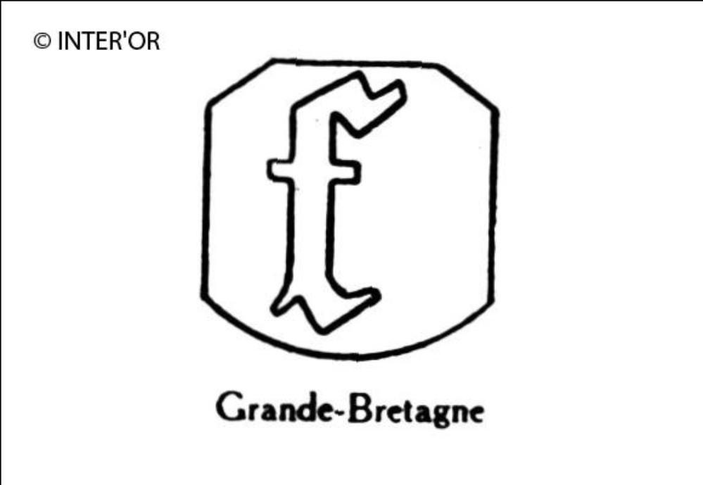 Petite lettre gothique f
