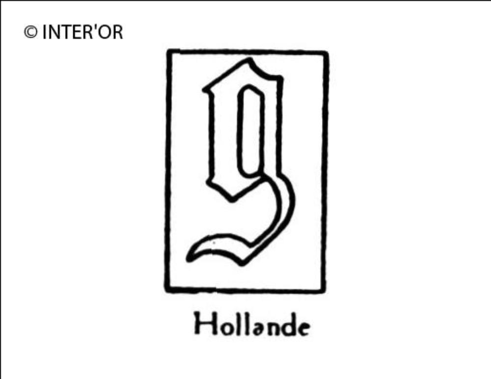 Petite lettre gothique g