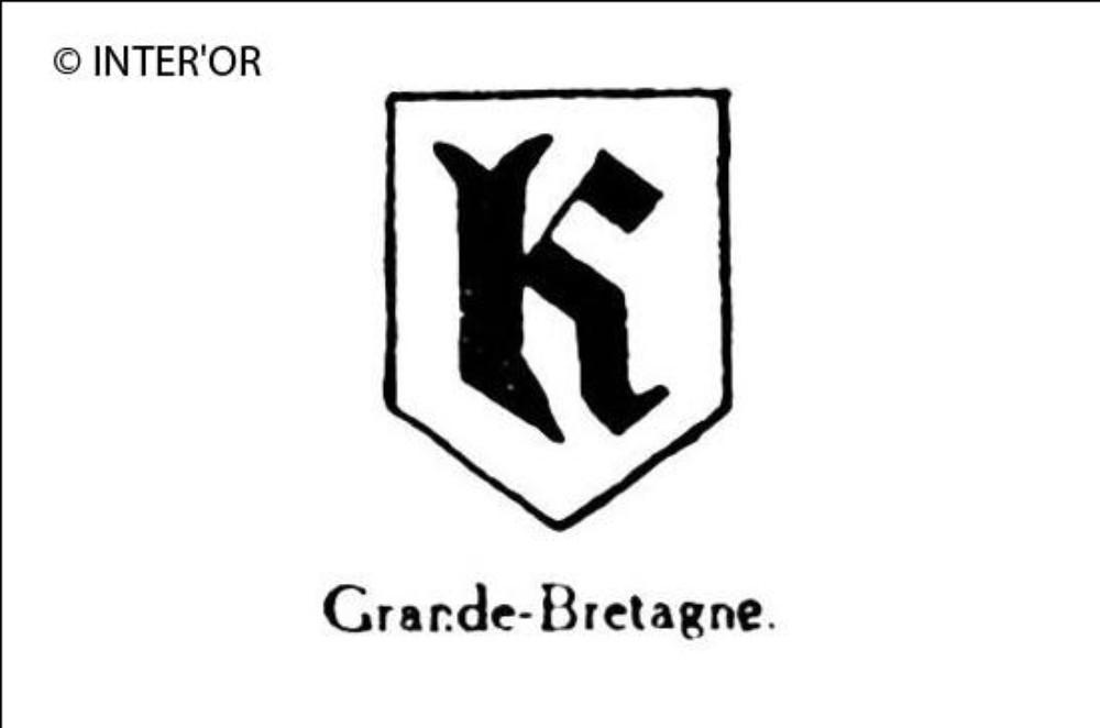 Petite lettre gothique k