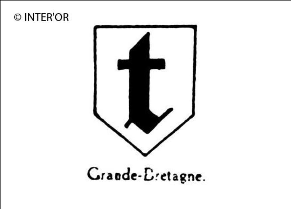 Petite lettre gothique t