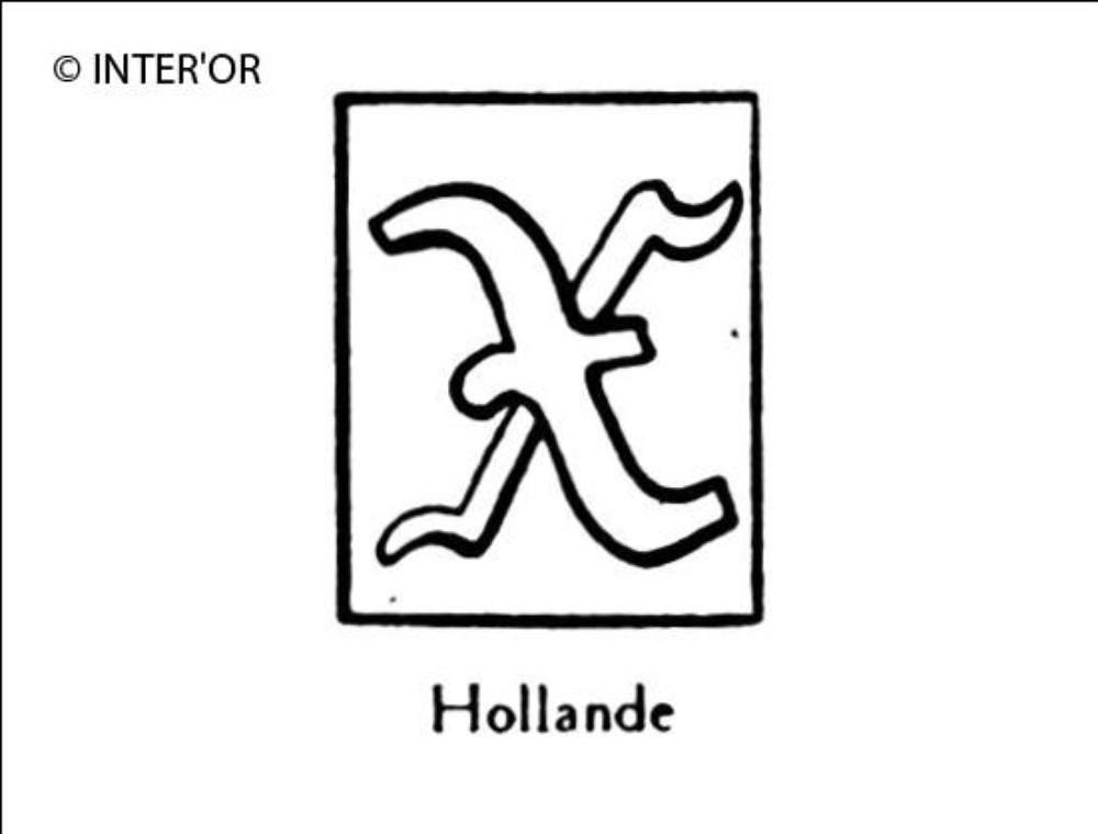 Petite lettre gothique x