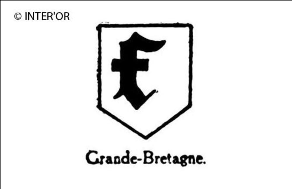 Petite lettre noire f