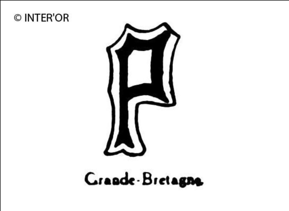 Petite lettre noire p