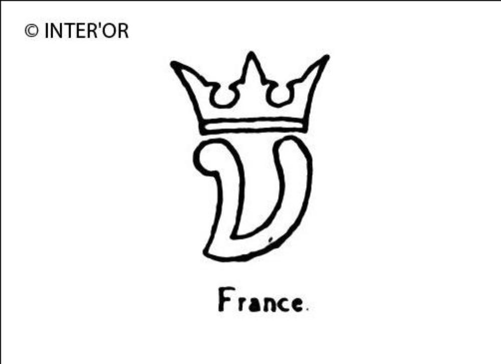 Petite lettre v couronnee