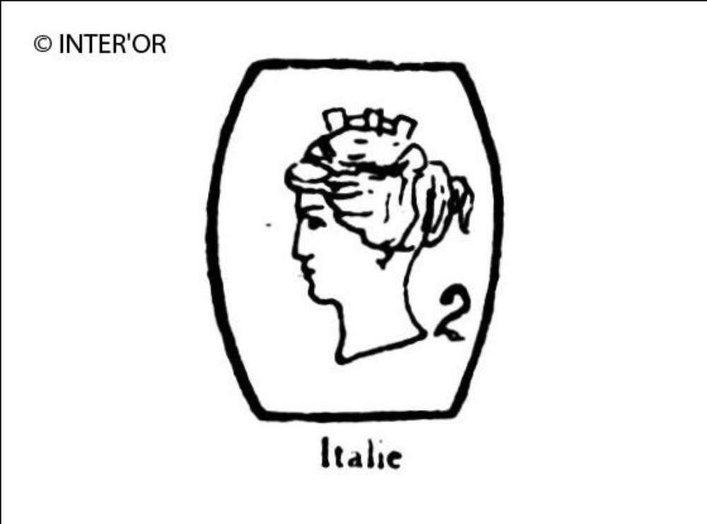 Petite tete de femme (italie couronnee)