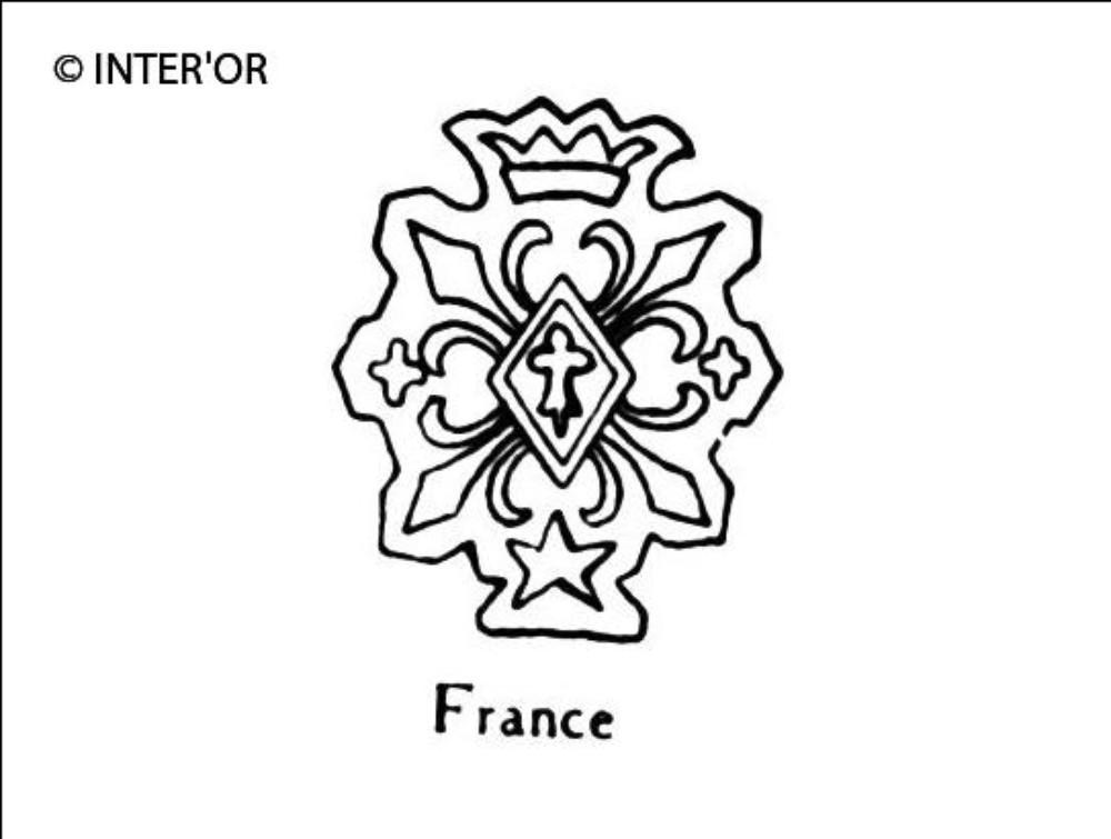 Quatre fleurs de lys etoiles hermine le tout couronne