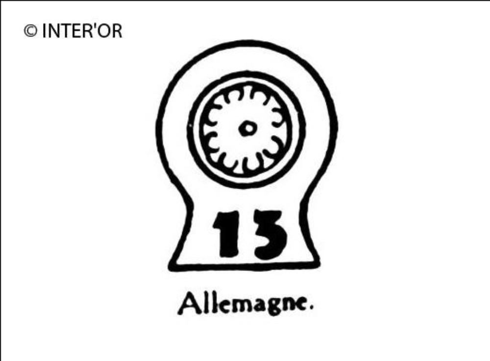 Roue et nombre 13