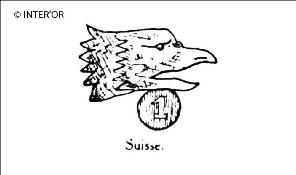 Tete d'aigle. — chiffre 1