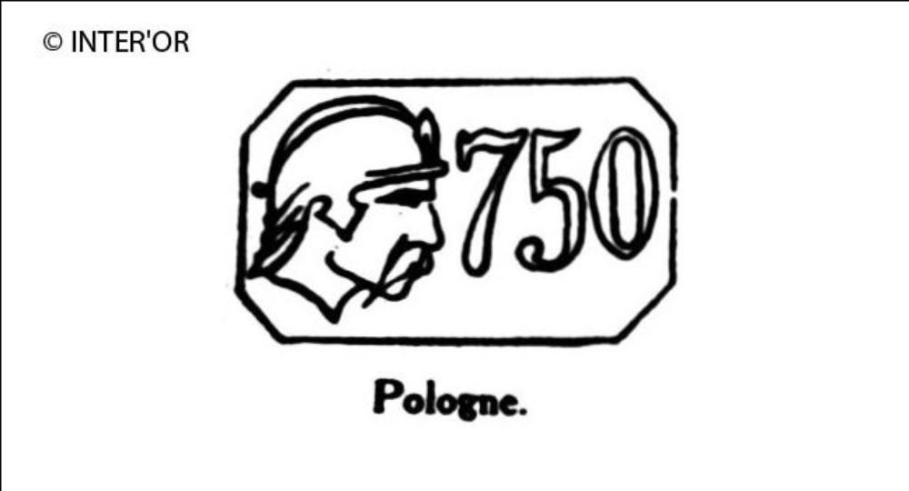 Tete de chevalier avec nombre 750