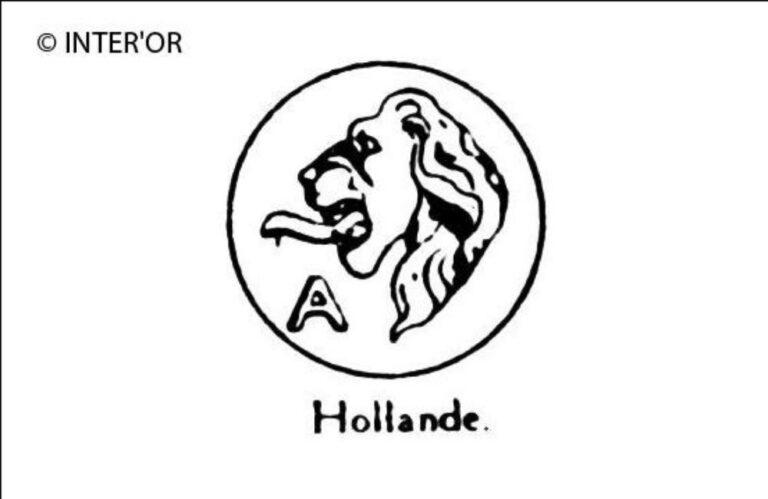Tete de lion. — lettre a