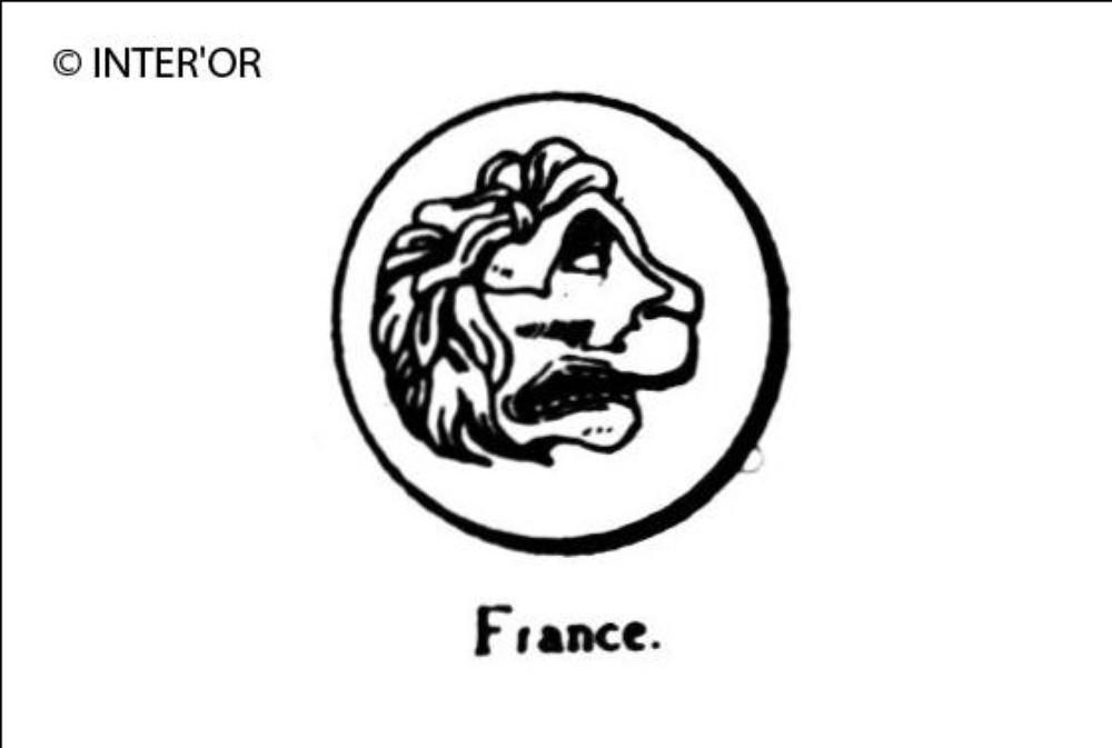 Tete de lion a droite