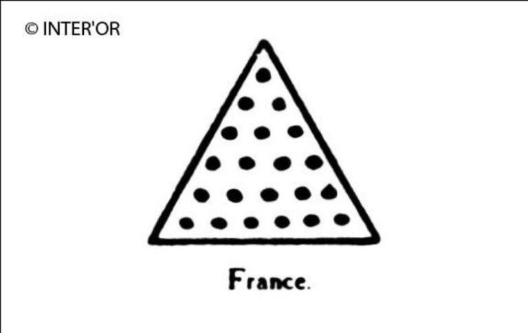 Triangle au fond d'or